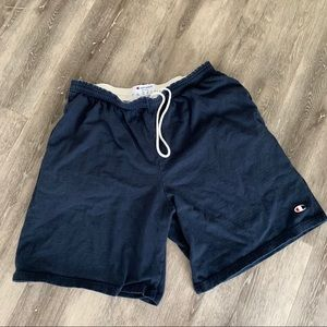 Vintage champion knit drawstring gym shorts L